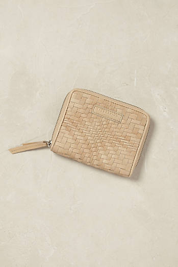 Connie Woven Leather Wallet