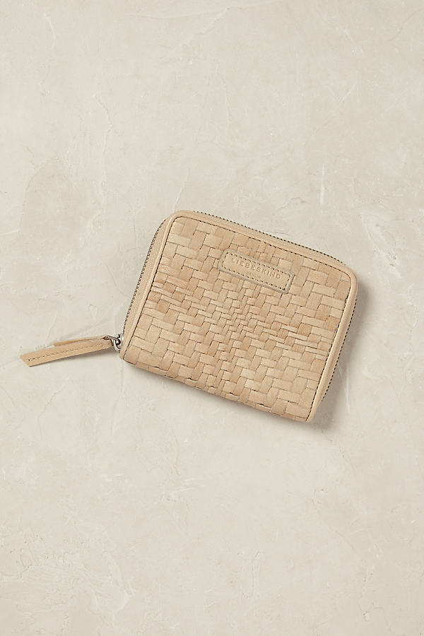 Connie Woven Leather Wallet - Neutral