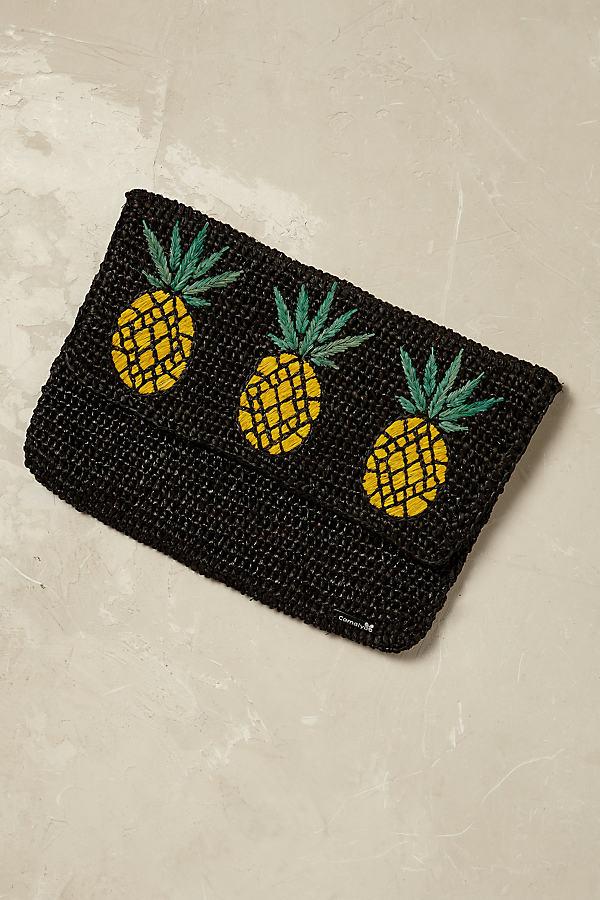 Syzygy Pineapple Clutch - Black Motif