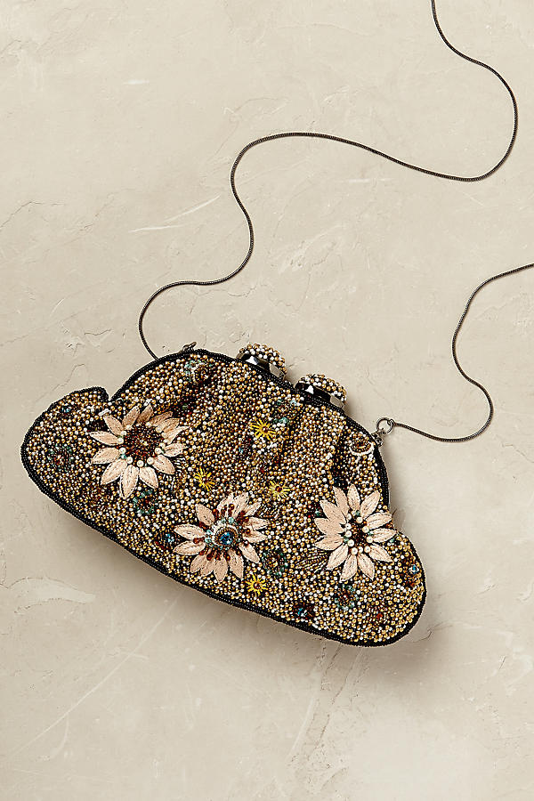 Slide View: 1: Almeria Beaded Clutch