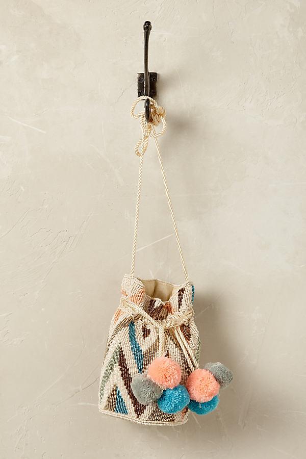 Soleil Drawstring Bag - Neutral Motif