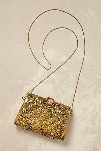 Orelia Gold Crossbody Bag