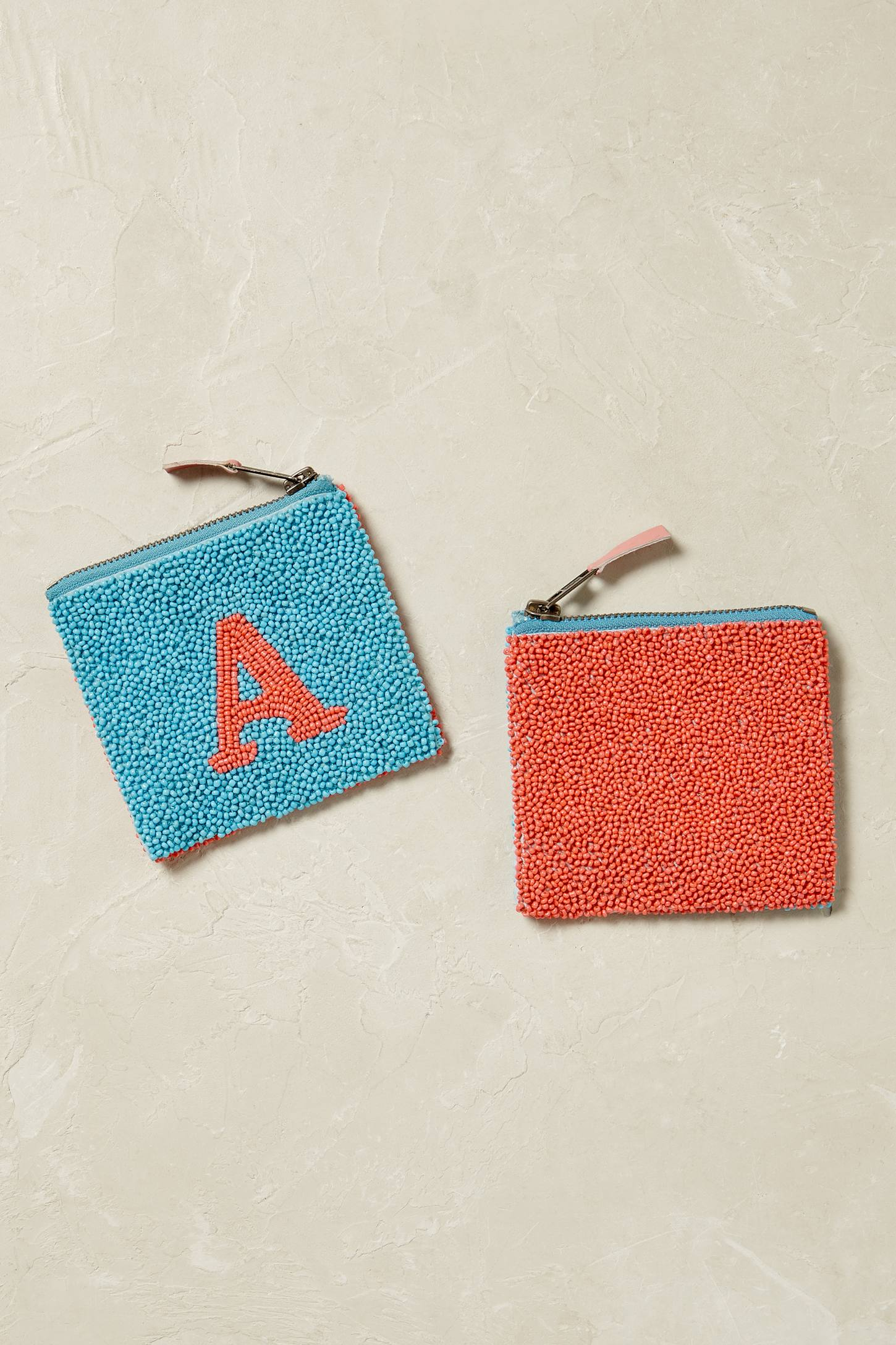 Slide View: 2: Monogram Beaded Coin Purse