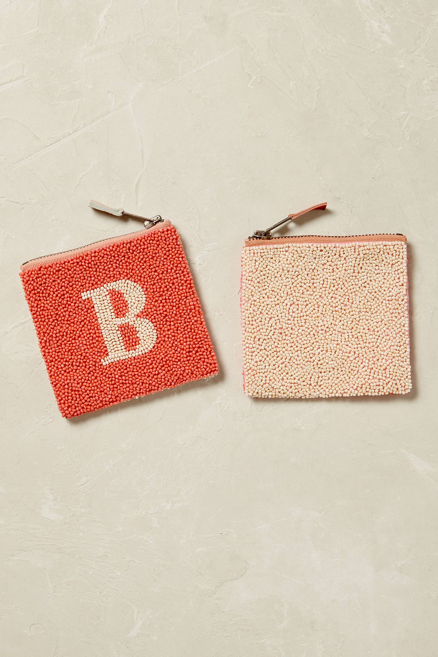 Slide View: 3: Monogram Beaded Coin Purse