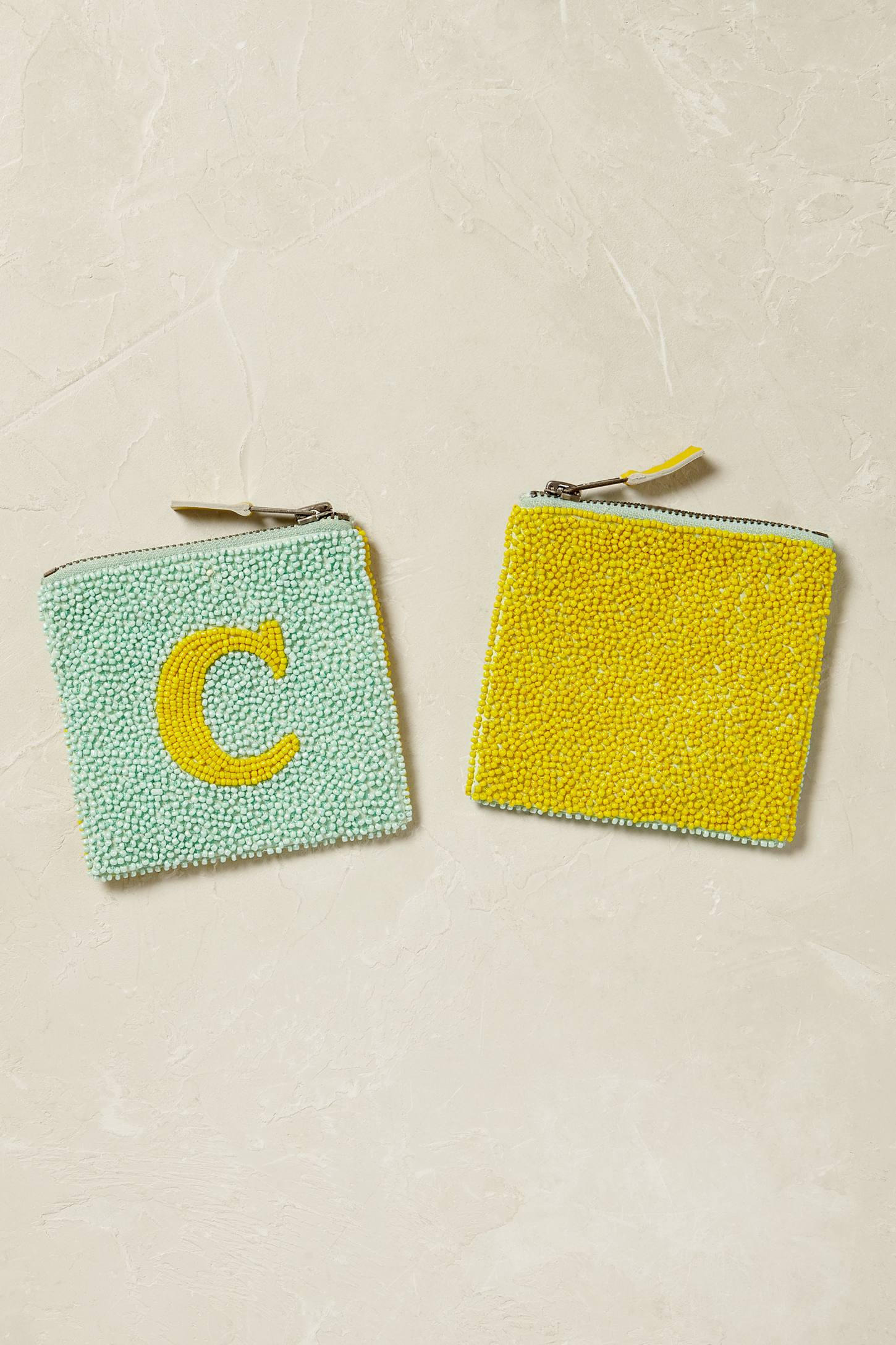 Slide View: 4: Monogram Beaded Coin Purse