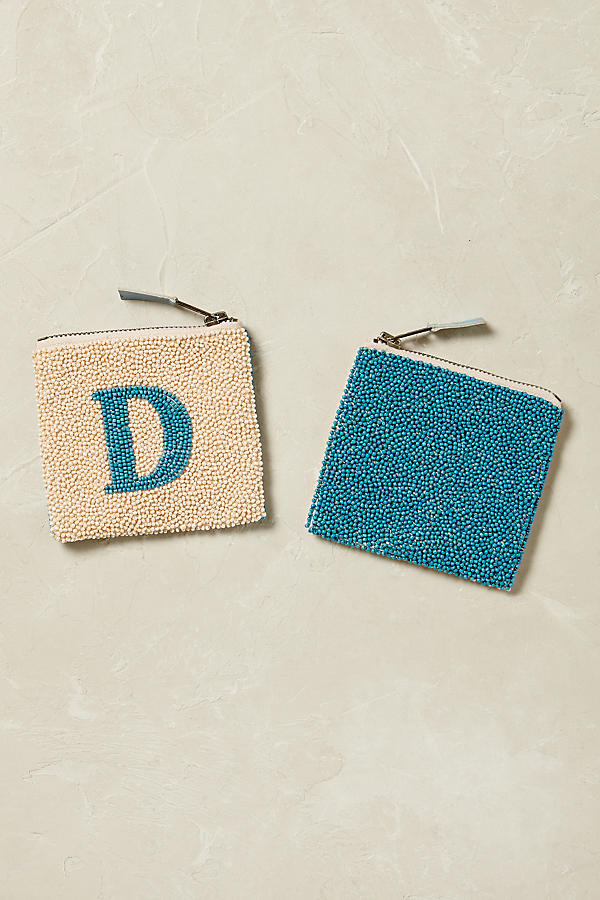 Slide View: 5: Monogram Beaded Coin Purse