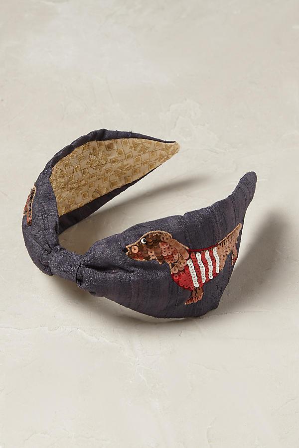 Details about Anthropologie PRETTY PUP HEADBAND Hair Copper Sequins Dog  Sweater Dachshund NIP 716dd44497e
