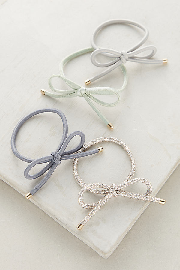 Bow Hair Tie Set - Mint