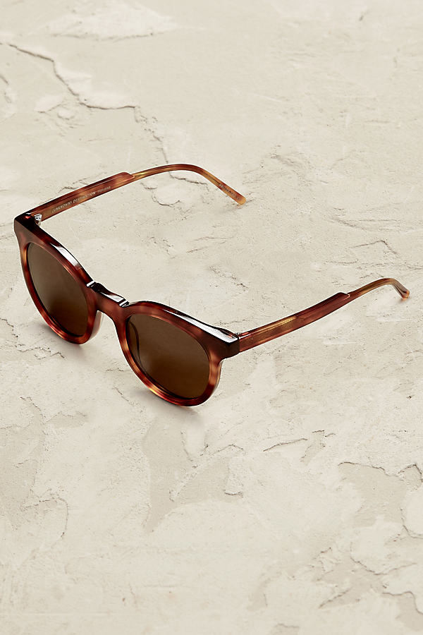 Kaikoura Round Sunglasses - Brown Motif