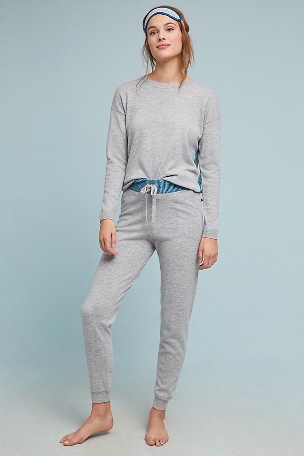Peggy Knit Top + Eyemask - Grey, Size Xl