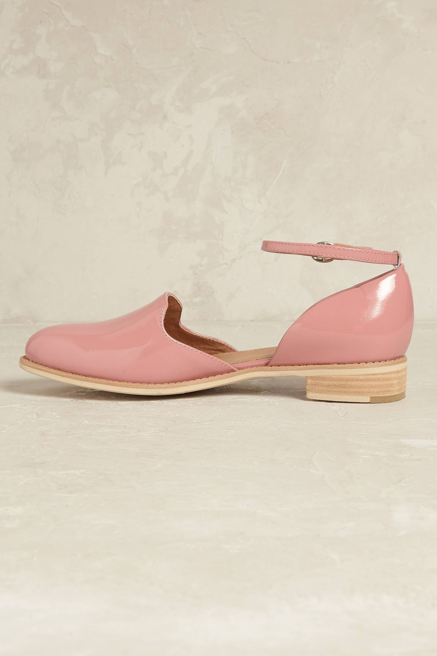 Slide View: 3: Madelyn Ankle-Strap Flats