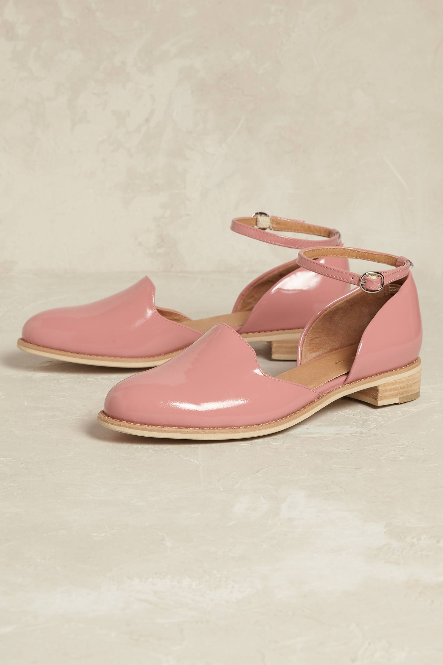 Slide View: 1: Madelyn Ankle-Strap Flats