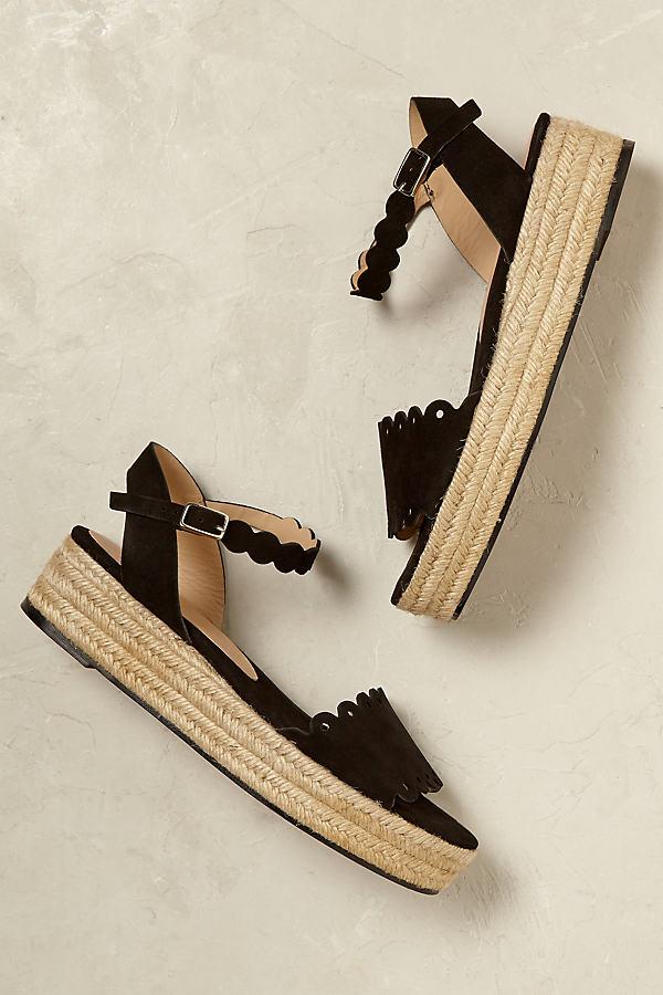 Dakota Suede Flatforms - Black, Size 40