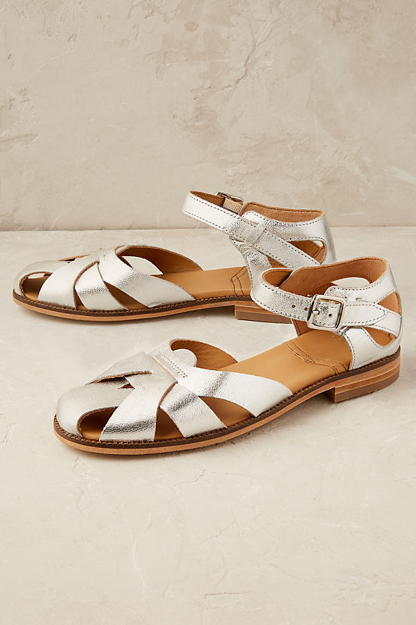 Tilda Metallic Sandals - Silver, Size 36