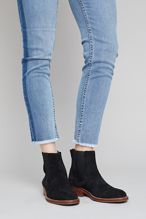 Leila Suede Black Chelsea Boots - Black, Size 39