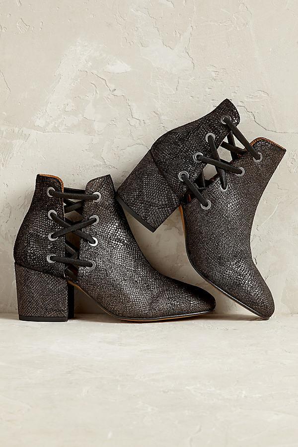 Hudson Kris Laced Ankle Boots - Carbon, Size 38