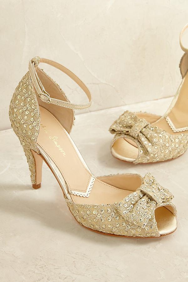 Krista Embellished Heels - Gold, Size 36