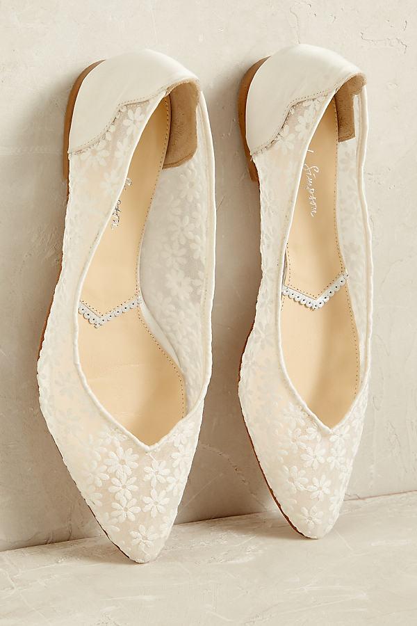 Mercy Ballet Flats - Ivory, Size 37