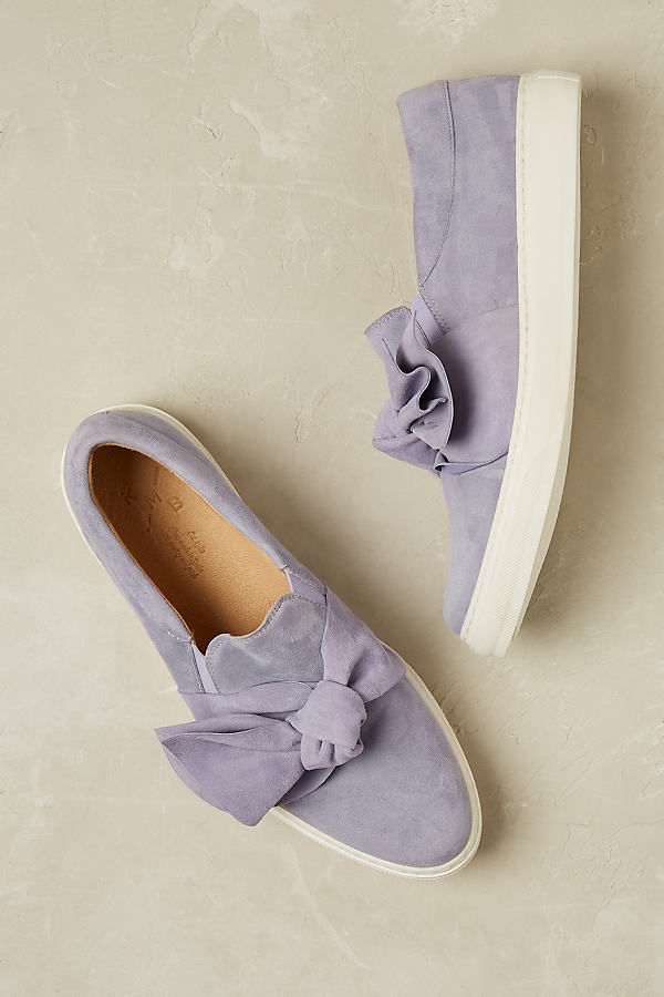 Zain Suede Trainers - Lilac, Size 40