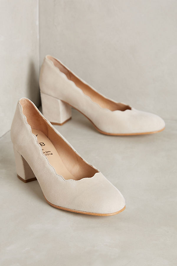 Karyn Scalloped Heels - Neutral, Size 40