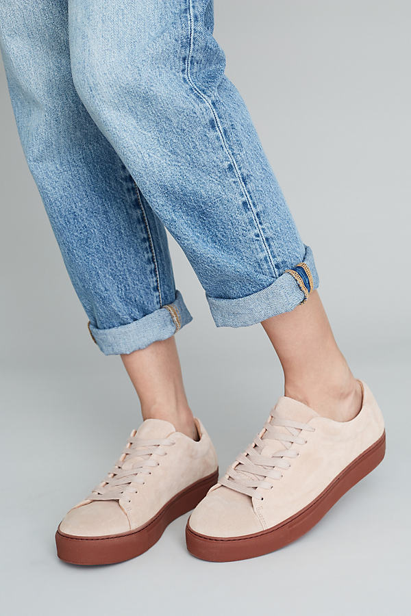 Dusky Suede Trainer - Rose, Size 37