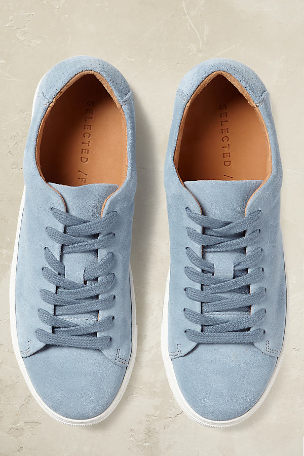 Lexi Suede Trainers - Sky, Size 37
