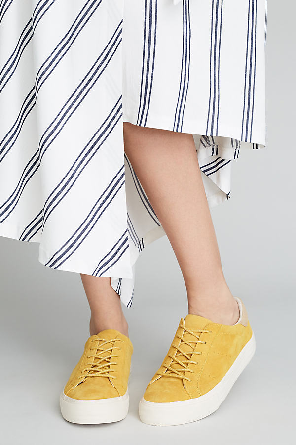 No Name Lolly Suede Trainers - Yellow, Size 37