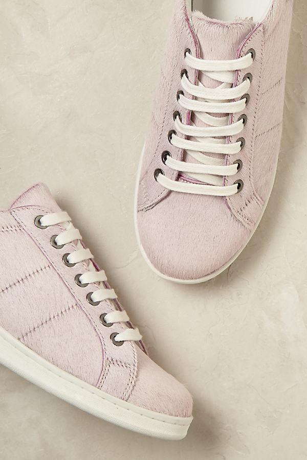 Juana Ponyhair Trainers - Pink, Size 39