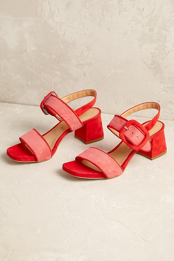 Arizona Suede Heels - Red, Size 39