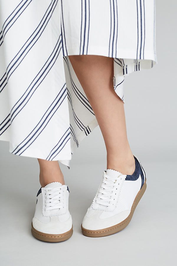 Frieda Leather Trainers - White, Size 40