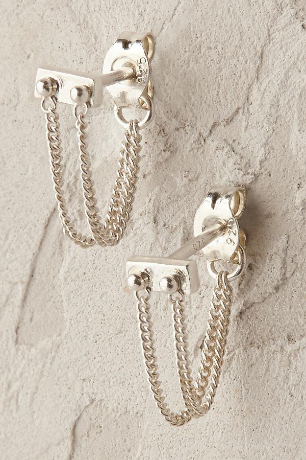 Beatriz Chain Earrings - Silver