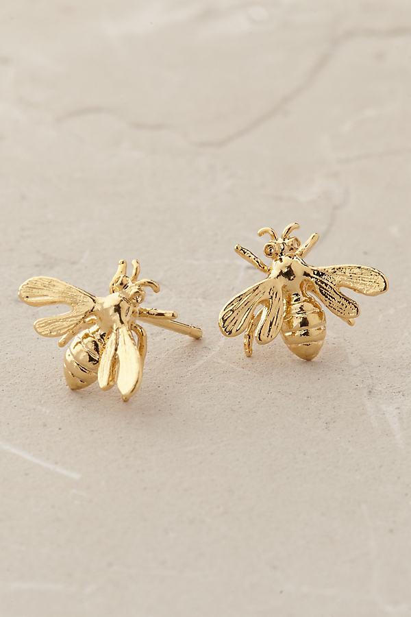 Gilded Bee Earrings - Gold