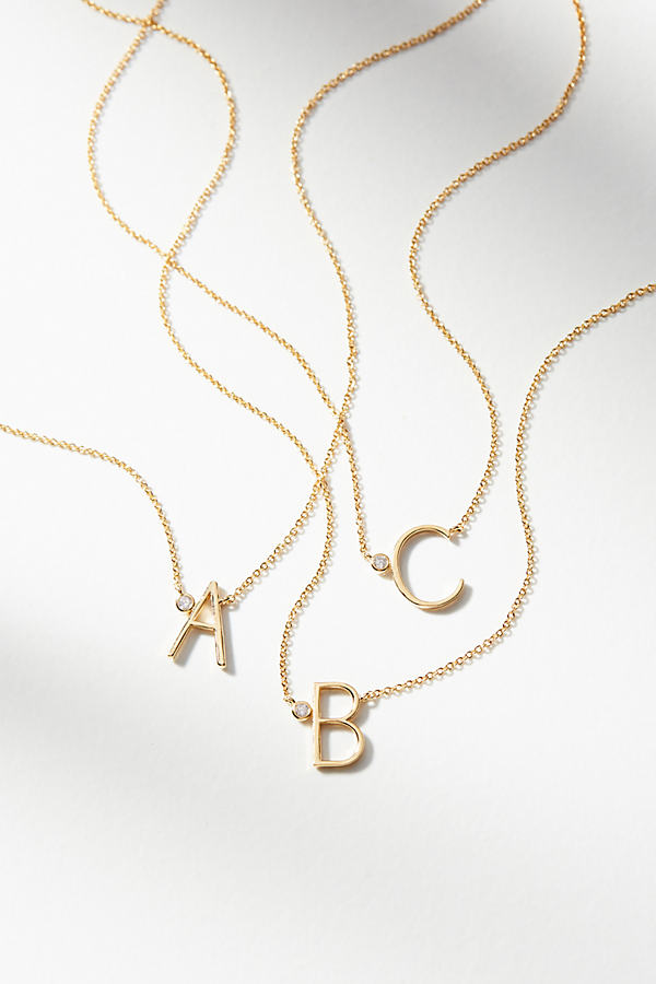 Delicate Monogram Necklace - Assorted, Size F