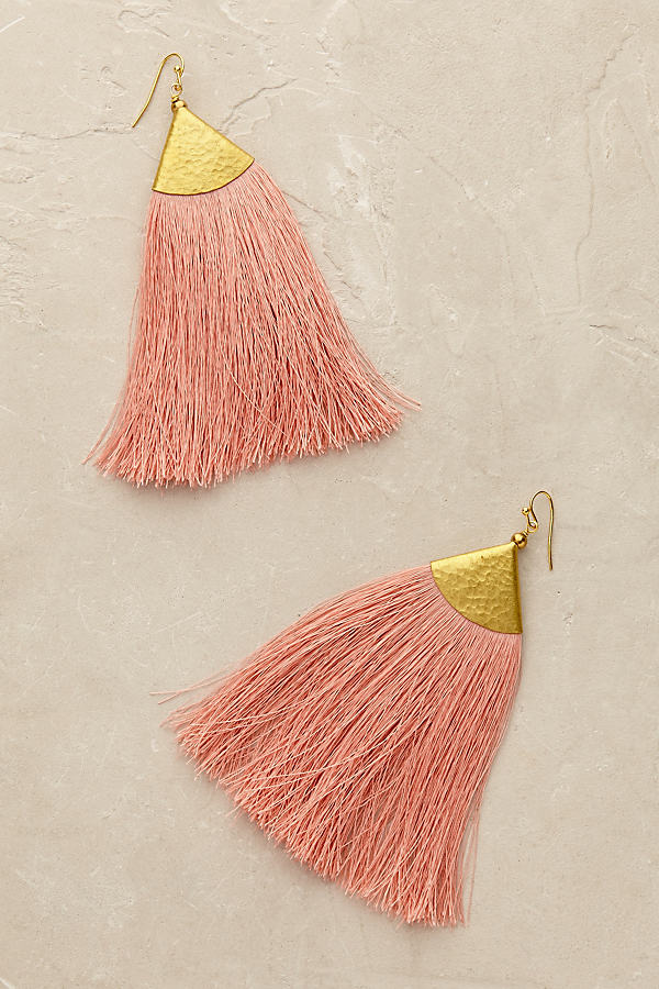 Serenite Tassel Earrings - Pink