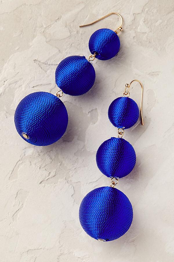 Larisa Tiered Earrings - Blue