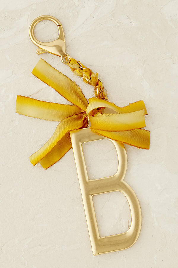 Slide View: 3: Ribboned Monogram Keychain