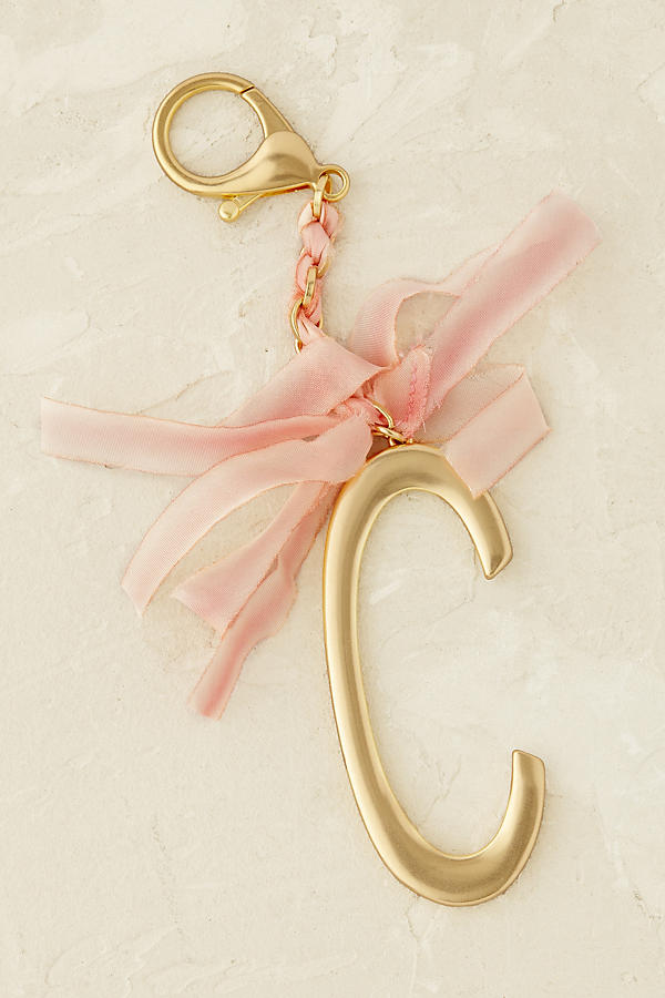 Slide View: 4: Ribboned Monogram Keychain