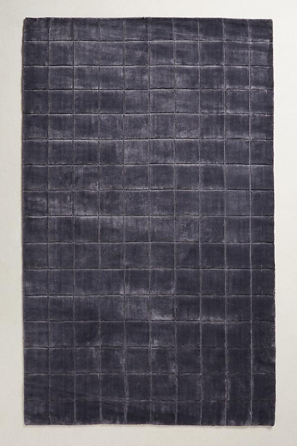 Gridwork Rug - Grey, Size 8 X 10
