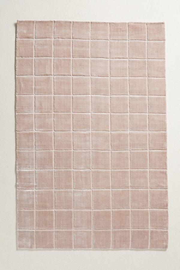Gridwork Rug - Lilac, Size 4 X 6