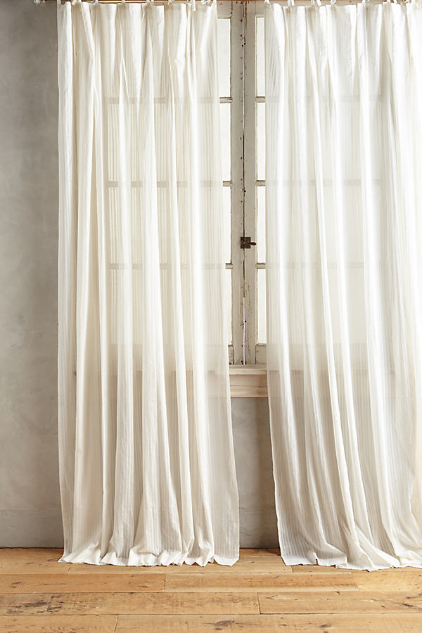 Felice Diamond Curtain - White, Size 50 X 108