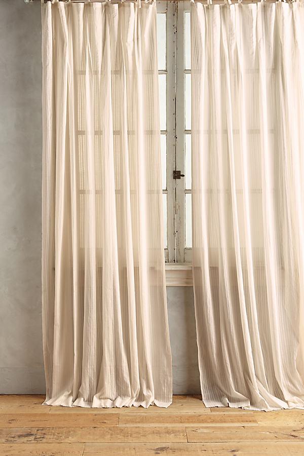 Felice Diamond Curtain - Cream, Size 50 X 108
