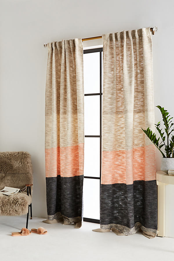 Karel Curtain - Taupe, Size 50 X 108