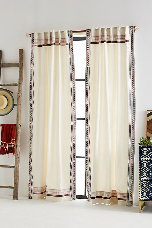 Hildara Curtain - Ivory, Size 50 X 108