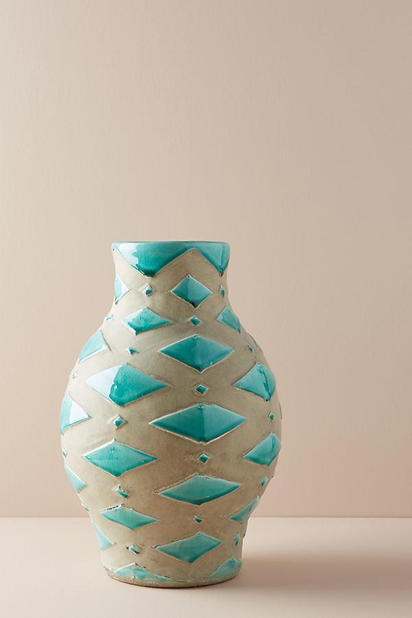 Soleil Vase - Turquoise, Size Xl