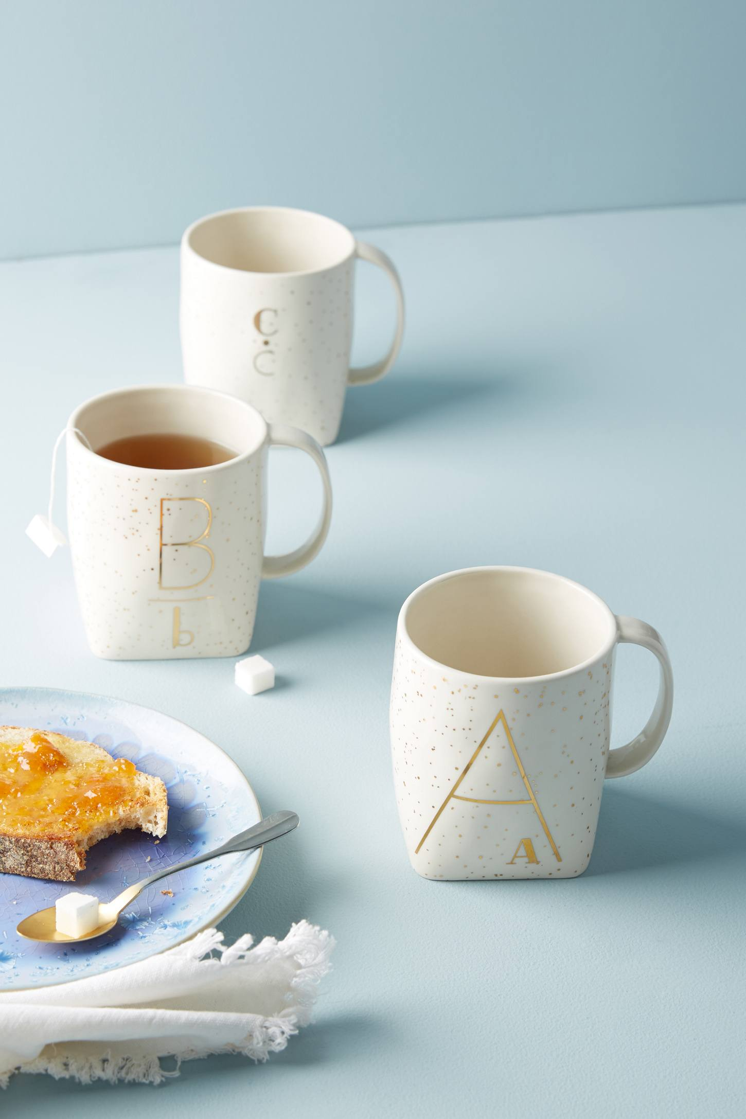 Slide View: 1: Double Monogram Mug
