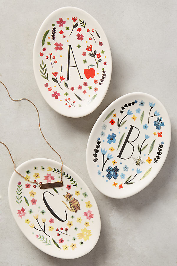Monogrammed Meadow Trinket Dish - Assorted, Size E