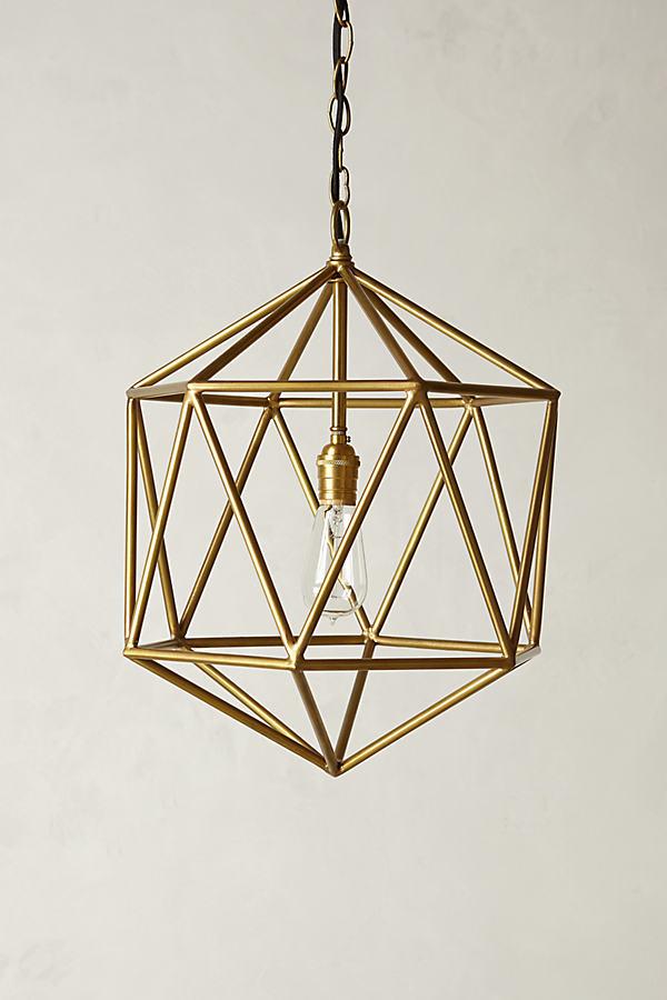 Euclidean Pendant - Bronze, Size M