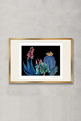 Anthropologie Wall Art midnight cactus wall art | anthropologie