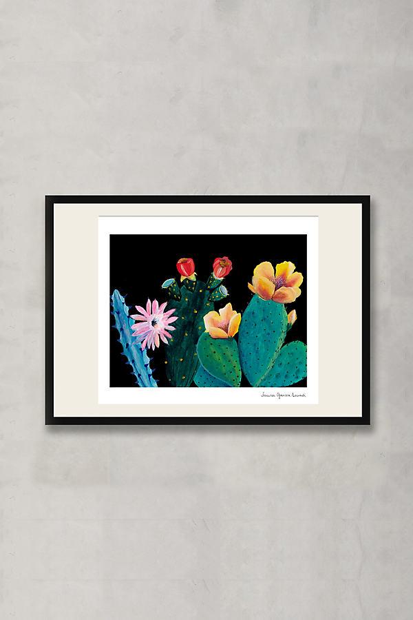 Midnight Cactus Deux Wall Art - Black
