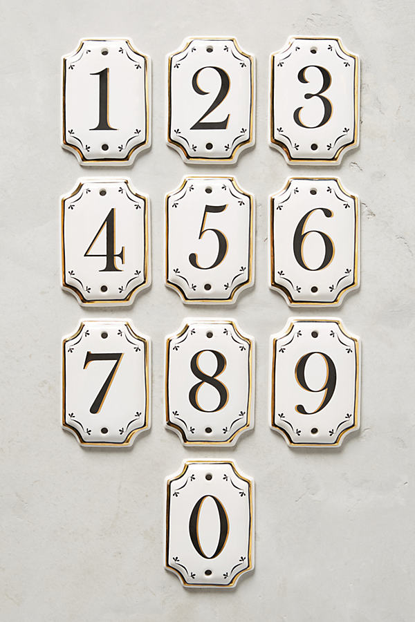 Hotel Numeral House Number - Assorted, Size Uk 8